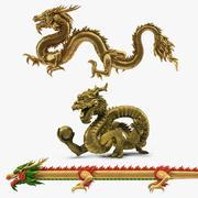 Kolekcja chińskich smoków 2 3d model