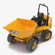 Dumper da cantiere JCB 6T-1 attrezzato 3d model