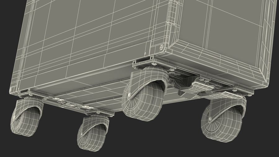 Full Size Aviation Trolley royalty-free 3d model - Preview no. 22