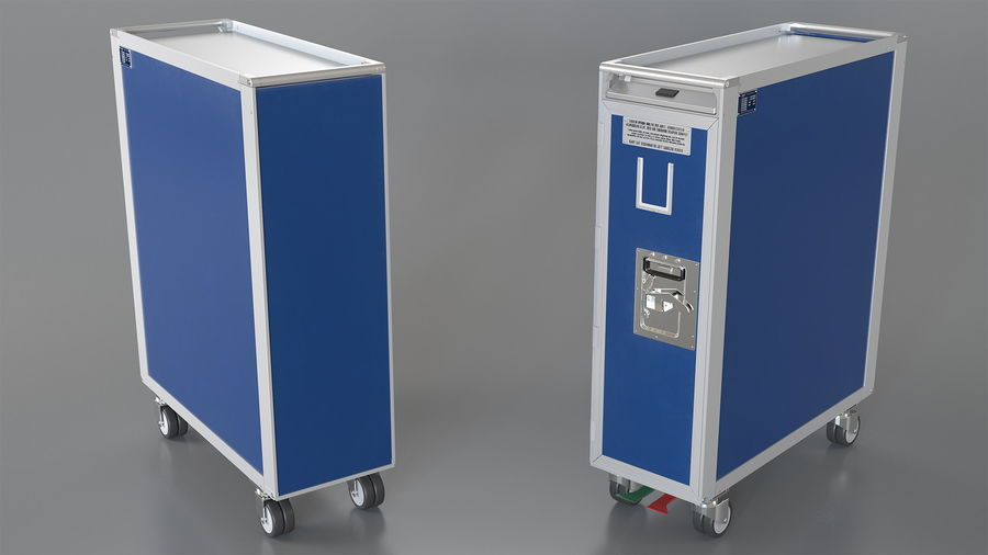 Full Size Aviation Trolley royalty-free 3d model - Preview no. 2