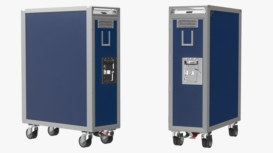 Full Size Aviation Trolley royalty-free 3d model - Preview no. 6