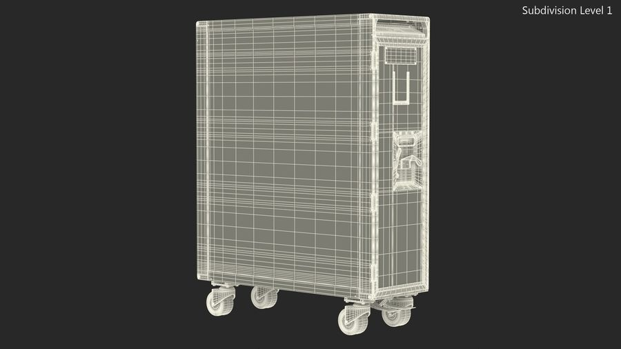 Full Size Aviation Trolley royalty-free 3d model - Preview no. 15