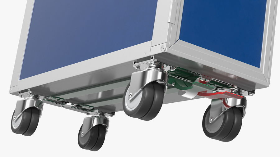 Full Size Aviation Trolley royalty-free 3d model - Preview no. 9