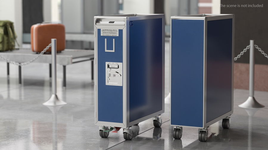 Full Size Aviation Trolley royalty-free 3d model - Preview no. 3