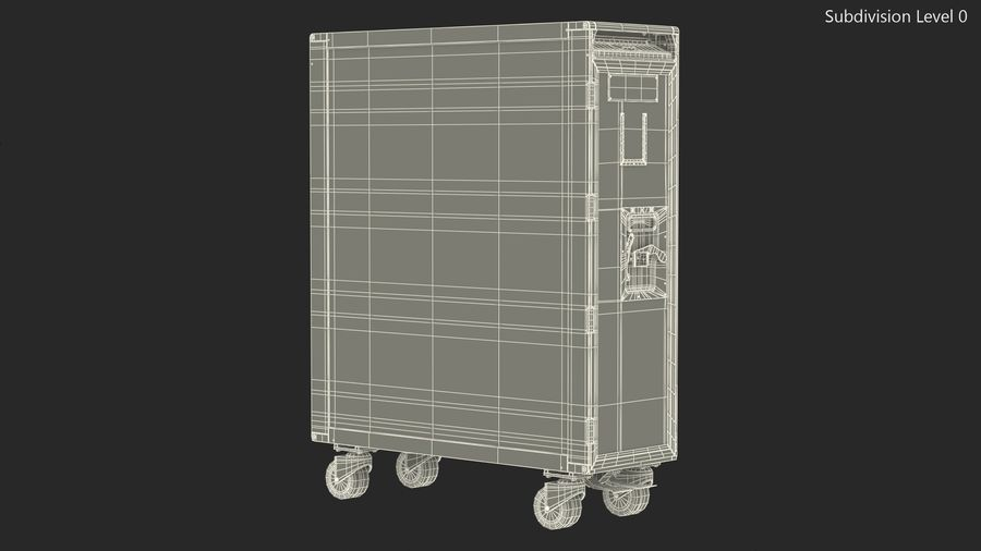 Full Size Aviation Trolley royalty-free 3d model - Preview no. 14