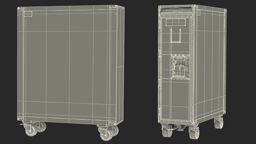 Full Size Aviation Trolley royalty-free 3d model - Preview no. 21