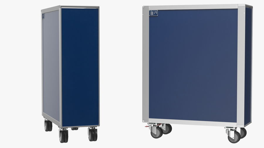 Full Size Aviation Trolley royalty-free 3d model - Preview no. 7
