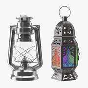 Coleção Lanternas 3d model