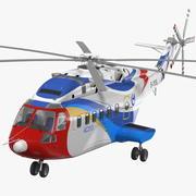 Helicóptero civil avicóptero AC313 equipado 3d model