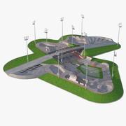 Открытый скейт-парк мех 3d model