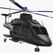 Corporate Helicopter Generic Rigged 3d model