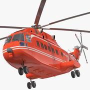 直升机AC313攻击直升机 3d model