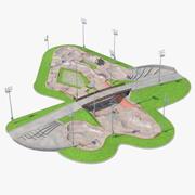 Скейт-парк 3d model