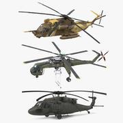 西科斯基军用直升机系列2 3d model