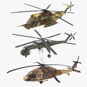西科斯基军用索具直升机系列2 3d model
