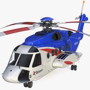 Helicóptero Civil Sikorsky S-92 3d model