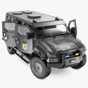 Opancerzona ciężarówka SWAT Pit-Bull VX Rigged 3d model
