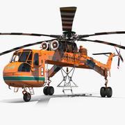 西科斯基S-64 Skycrane直升机货物索具 3d model