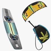 Set da kitesurf con fionda 3d model