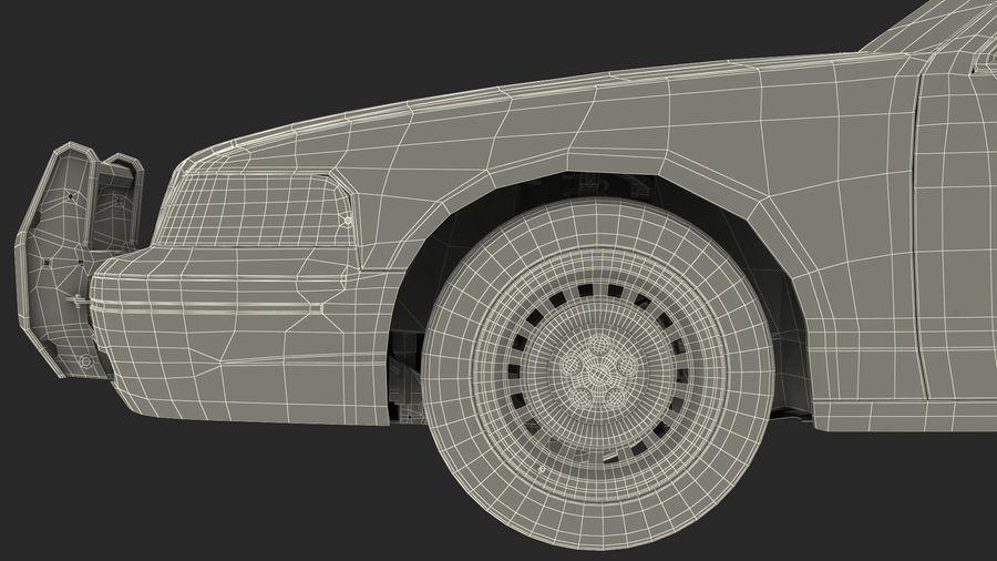 Ogólny samochód policyjny NYPD Rigged royalty-free 3d model - Preview no. 38