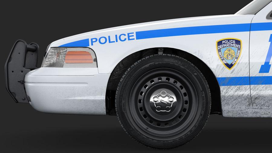 Ogólny samochód policyjny NYPD Rigged royalty-free 3d model - Preview no. 18