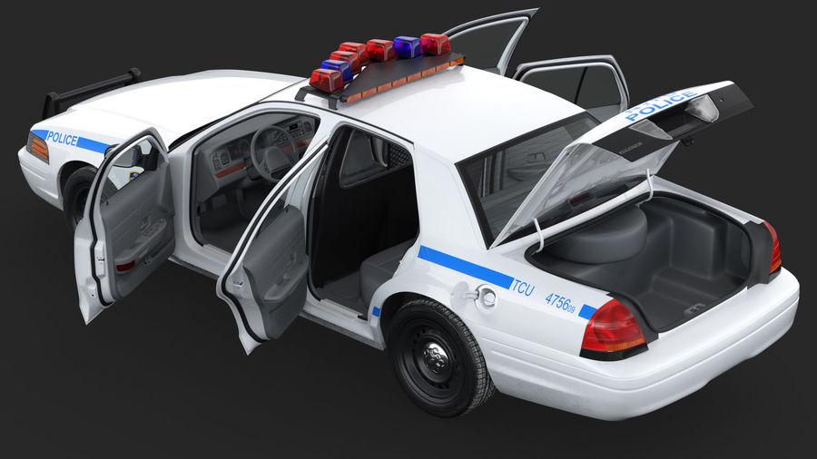 Ogólny samochód policyjny NYPD Rigged royalty-free 3d model - Preview no. 5