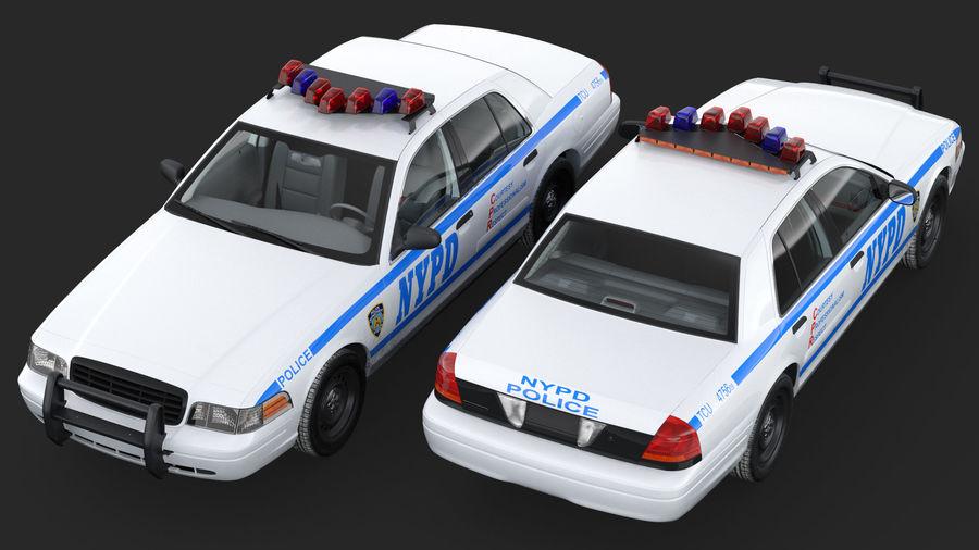 Ogólny samochód policyjny NYPD Rigged royalty-free 3d model - Preview no. 8