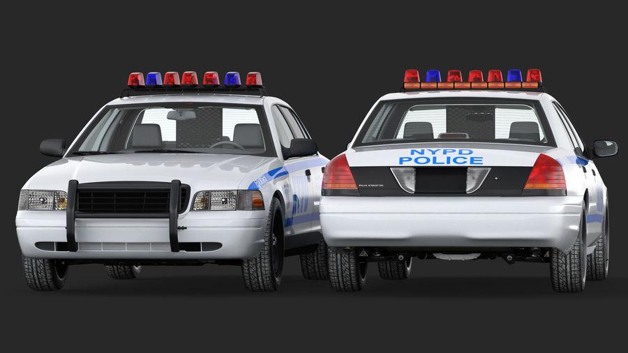 Ogólny samochód policyjny NYPD Rigged royalty-free 3d model - Preview no. 9