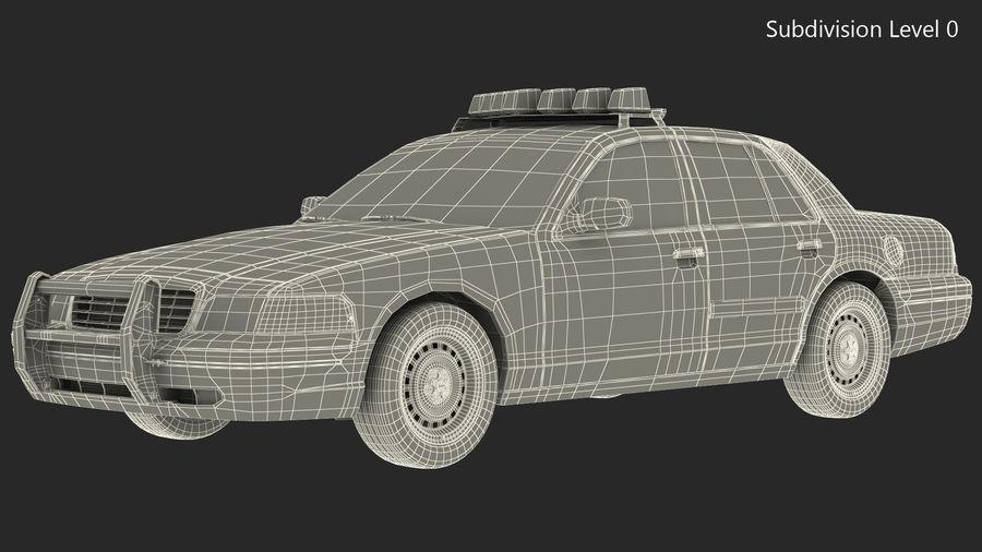 Ogólny samochód policyjny NYPD Rigged royalty-free 3d model - Preview no. 30