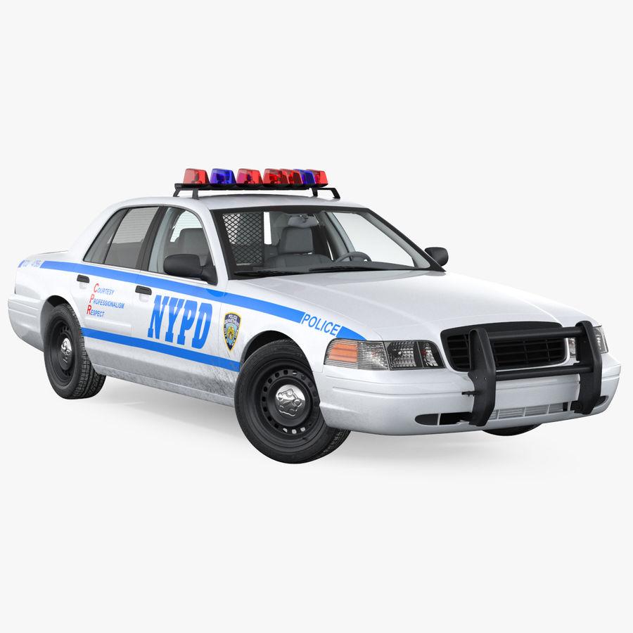 Ogólny samochód policyjny NYPD Rigged royalty-free 3d model - Preview no. 1