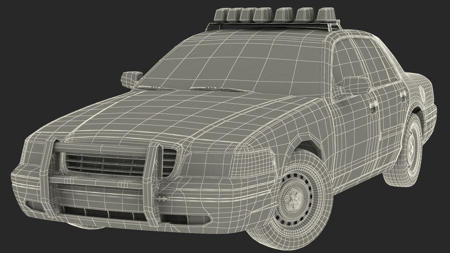 Ogólny samochód policyjny NYPD Rigged royalty-free 3d model - Preview no. 48