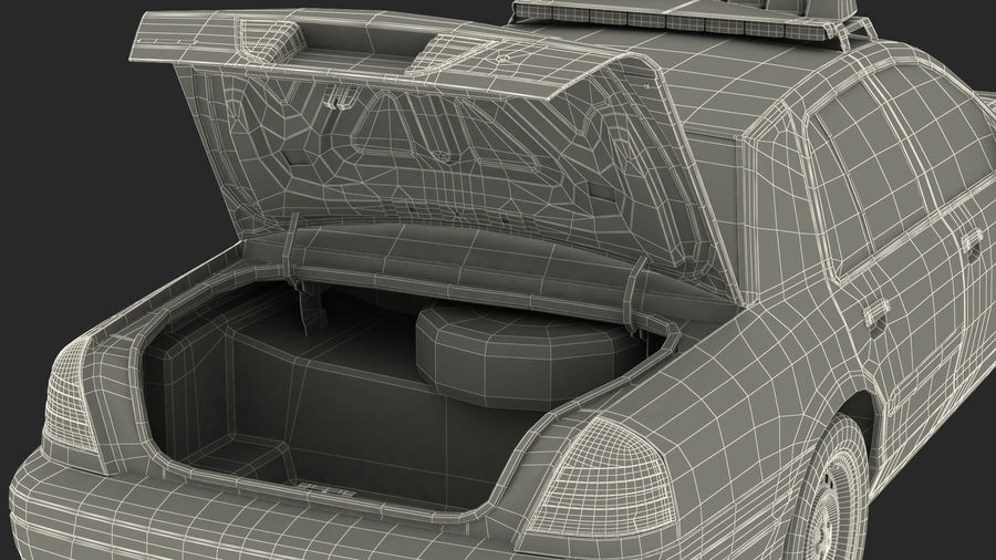 Ogólny samochód policyjny NYPD Rigged royalty-free 3d model - Preview no. 50