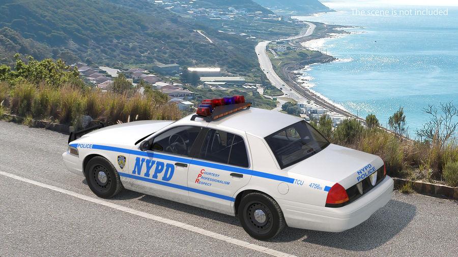 Ogólny samochód policyjny NYPD Rigged royalty-free 3d model - Preview no. 4