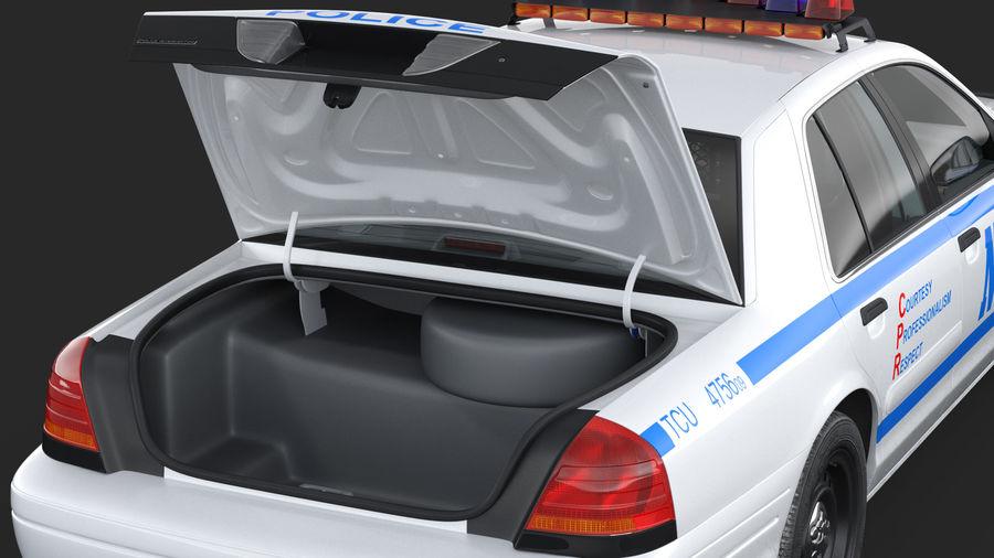 Ogólny samochód policyjny NYPD Rigged royalty-free 3d model - Preview no. 23