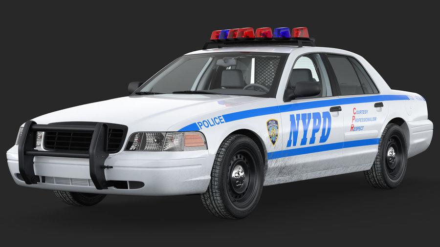 Ogólny samochód policyjny NYPD Rigged royalty-free 3d model - Preview no. 10