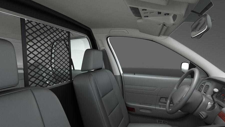 Ogólny samochód policyjny NYPD Rigged royalty-free 3d model - Preview no. 14