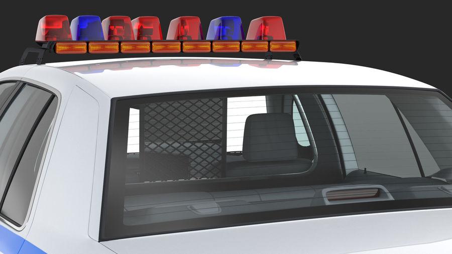 Ogólny samochód policyjny NYPD Rigged royalty-free 3d model - Preview no. 21