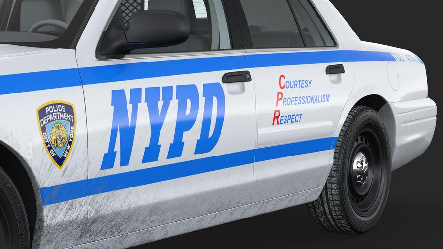Ogólny samochód policyjny NYPD Rigged royalty-free 3d model - Preview no. 25