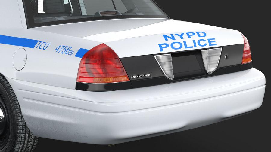 Ogólny samochód policyjny NYPD Rigged royalty-free 3d model - Preview no. 22