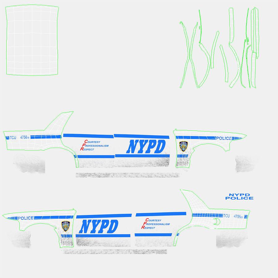 Ogólny samochód policyjny NYPD Rigged royalty-free 3d model - Preview no. 32