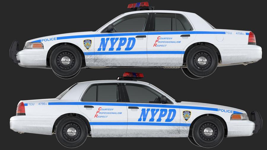 Ogólny samochód policyjny NYPD Rigged royalty-free 3d model - Preview no. 26