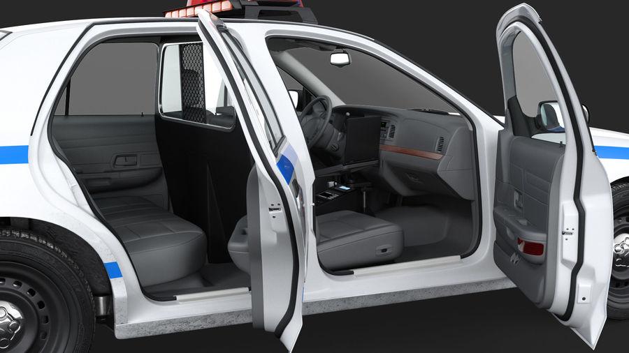 Ogólny samochód policyjny NYPD Rigged royalty-free 3d model - Preview no. 7