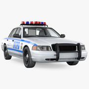 Generic Police Car NYPD Intérieur Simple 3d model