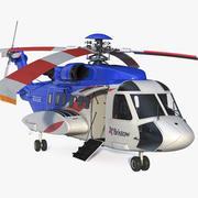 Helicóptero Civil Sikorsky S-92 equipado 3d model