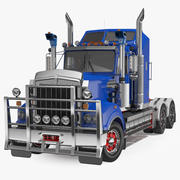 Vintage Semi-Truck Rigged 3d model