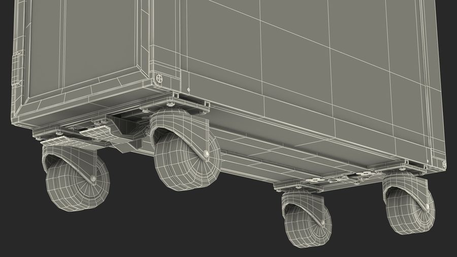 Full Size Waste Trolley royalty-free 3d model - Preview no. 23