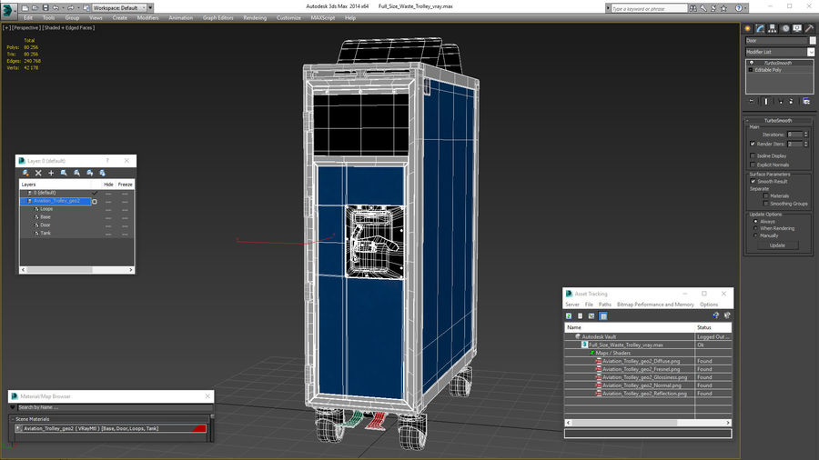 Full Size Waste Trolley royalty-free 3d model - Preview no. 21