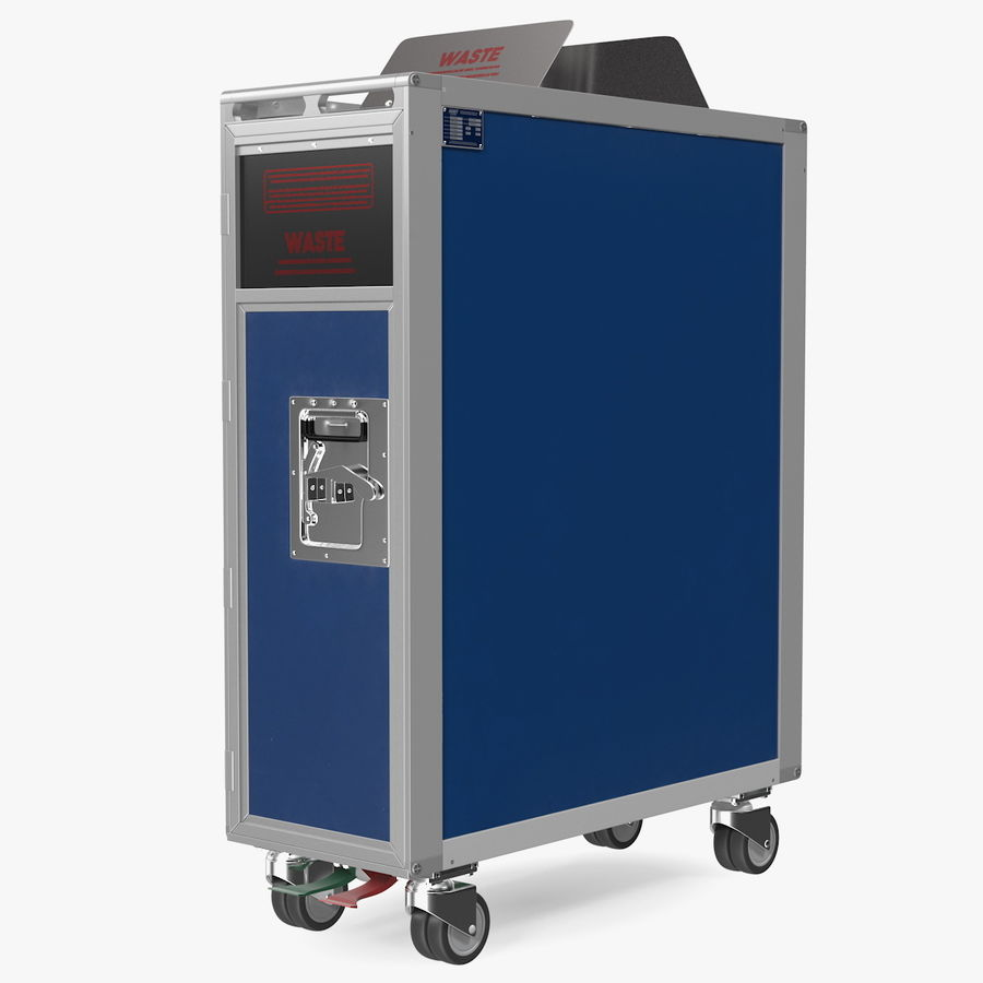 Full Size Waste Trolley royalty-free 3d model - Preview no. 1