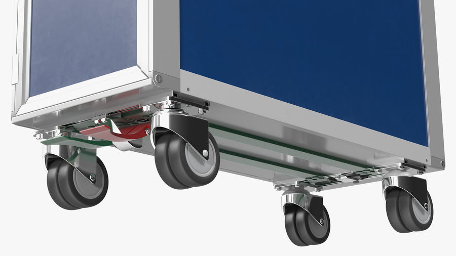 Full Size Waste Trolley royalty-free 3d model - Preview no. 11