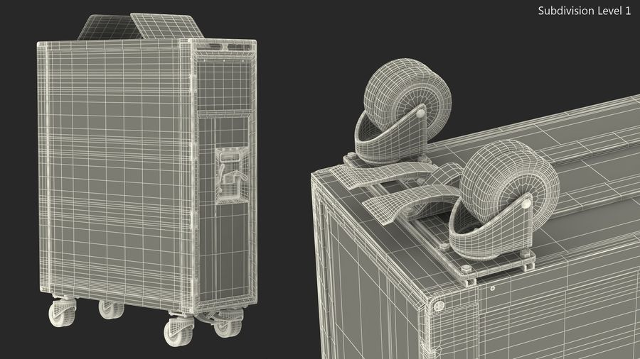 Full Size Waste Trolley royalty-free 3d model - Preview no. 16
